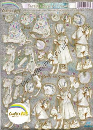Charlie's Ark Forever Best of Friends Die Cut Dufex 3d Decoupage Sheet